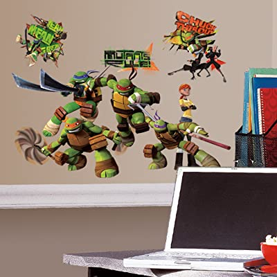 RoomMates Teenage Mutant Ninja Turtles Peel and Stick Wall Decals - RMK2246SCS,TMNT: Home Improvement