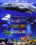 Jean-Michel Cousteau's Film Trilogy: Dolphins & Whales/Sharks/Ocean Wonderland [Blu-ray 3D + Blu-ray] [Region Free]