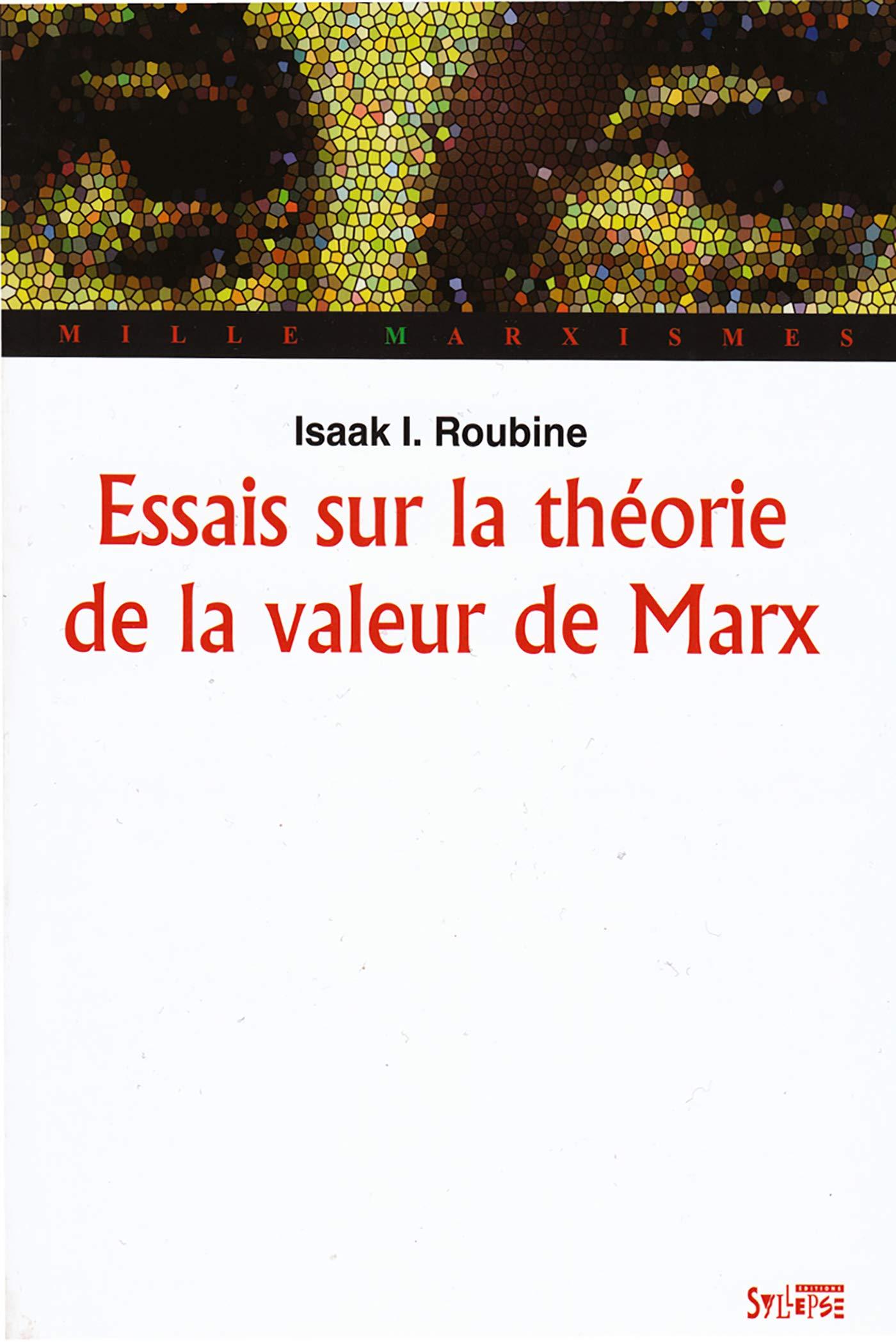 Amazon.fr - Essais sur la théorie de la valeur de Marx - Roubine ...