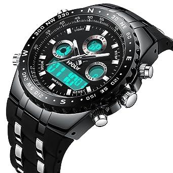 Uhren Männer Uhr Sport Uhren Luxus Marke Herren Analog Digital Militär Armee Sport Led Wasserdichte Armbanduhr 2018