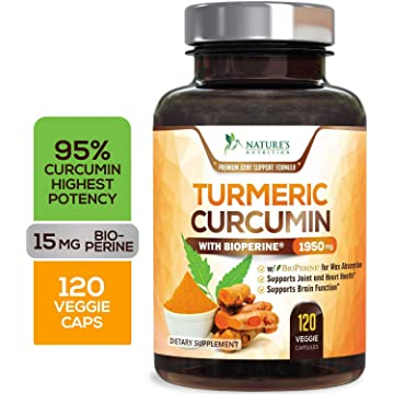 cheap Turmeric Curcumin Max Potency 95% Curcuminoids 1950mg with Bioperine Black Pepper for Best Absorption 2020