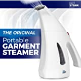 Prosteam Travel Garment/Clothes/Fabric Steamer, Hand Held, Lightweight and Portable, Perfect for Travel, Sterilizes and Neutralizes Odors, Wrinkle Remover, Heats Up in Less Than A Minute