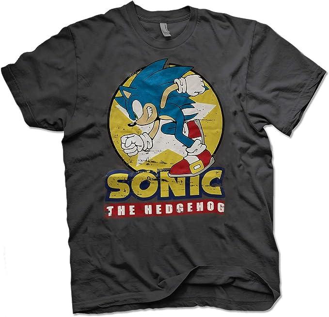T-Shirt Vintage Maglia Maglietta 100/% Ufficiale Originale Sega Sonic The Hedgehog Officially Licensed