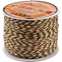 D DOLITY 0.8mm / 1.5mm Nylon Satin Cord, Rattail Trim Thread for Chinese Knotting, Kumihimo, Beading, Macrame, Jewelry Making, Sewing Crafts Supplies