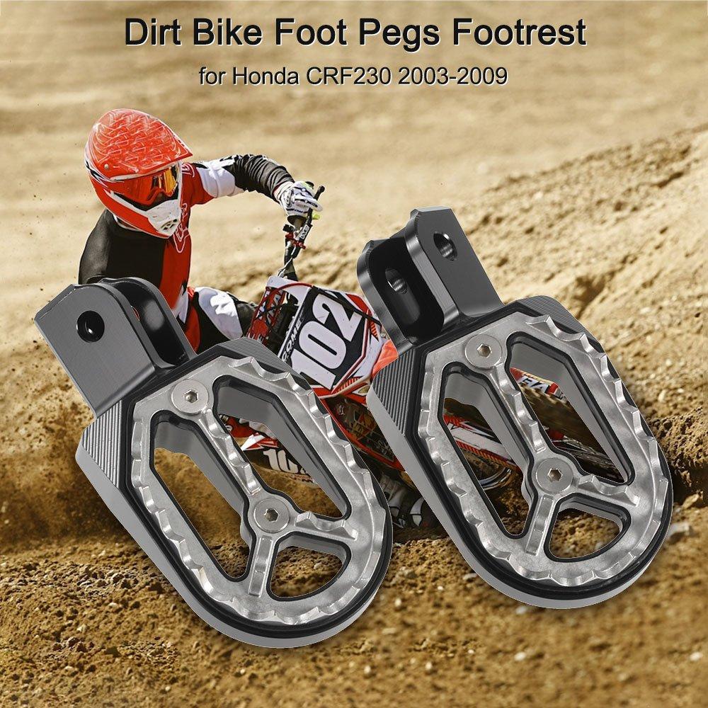 KKmoon 2pcs Motorcycle Dirt Bike Foot Pegs Footrest Foot Rest