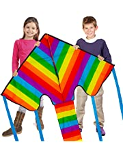 Sun Kites Huge Rainbow Kite for Kids Adults Boys & Girls - Great for Beginners & Children - Very Easy to Fly - Even in Low Winds