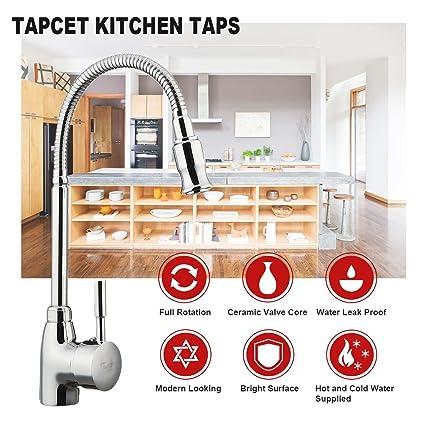 TAPCET Moderne Küche Mischbattrie Professionelle Spüle Küchenarmatur ...