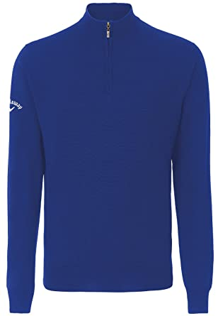 Callaway Merino 14 Zip Sweater Magnetic Blue Xl Amazoncouk Clothing