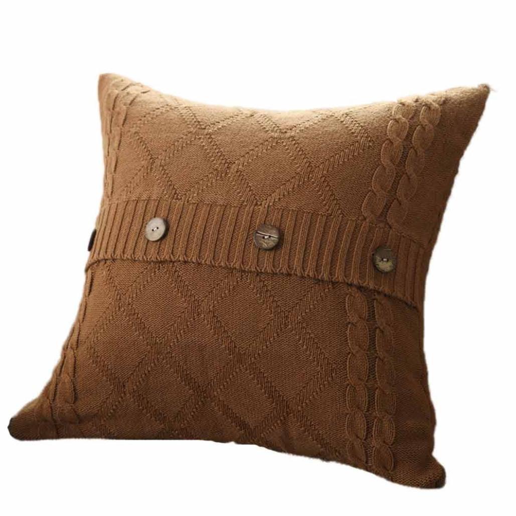 ホットセール。paymenowファッションKnitting Throw Pillow Casesカフェソファクッションカバーホームインテリアギフト新しい年の感謝祭クリスマスハロウィン 17.7'' X 17.7'' B075XMGGCR 17.7'' X 17.7''|J J 17.7'' X 17.7''