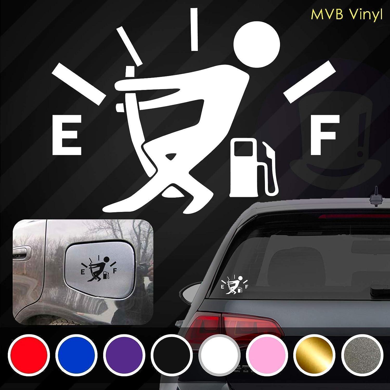 Low Gas Vinyl Decal Funny Car Truck Sticker | Fuel Gauge Empty Stickman Fuel Door