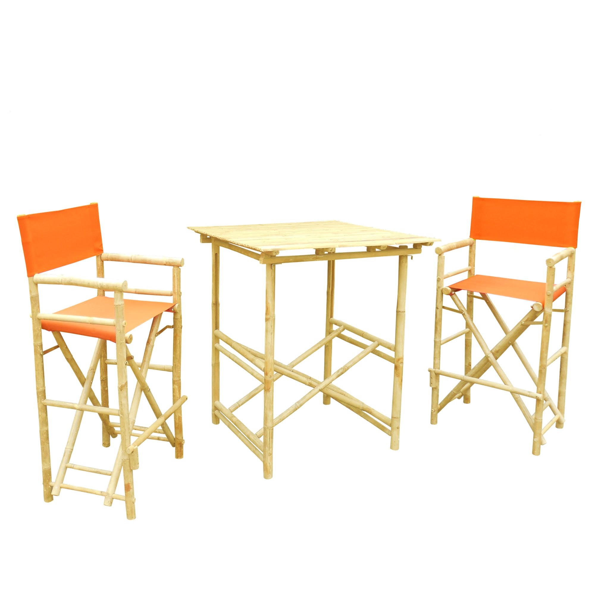 Zero Emission World Set of 1 High Table and 2 High Director Chairs, Pottery, Square