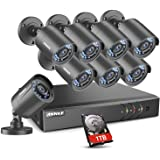 Amazon Price History for:ANNKE Home Security Camera System 8 Channel 1080P Lite DVR with 1TB HDD and (8) HD 1280TVL 720P Outdoor IP66 WeatherProof CCTV Cameras, Smart playback, Instant email alert with images