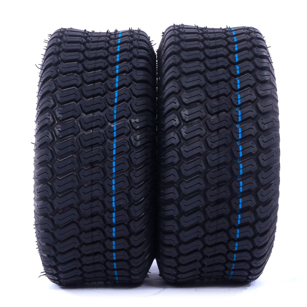 Motorhot Pair Turf Tires 4 Ply Lawn Mower & Garden Tractor Tubeless Tire P332 15X6-6 15x6.00x6