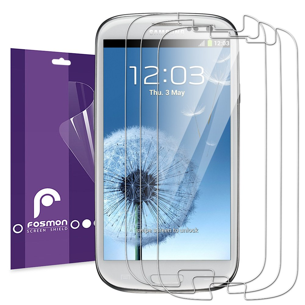 Lcd screen protector guard for samsung galaxy s3 i9300 galaxy s iii - Amazon Com Fosmon Crystal Clear Screen Protector Shield For Samsung Galaxy S3 Iii I9300 3 Pack Cell Phones Accessories