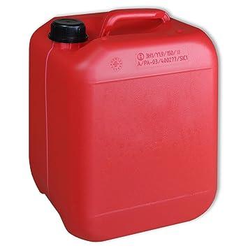 Lote de 30 bidones de polietileno /Jerrycan 10 L Rojo DIN45 calidad alimentaria (30x22270