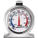 Termómetro de Acero Inoxidable para Horno, LETTURE Termómetro de Esfera Grande de Horno Termómetro, Ahumador de Parrilla de H