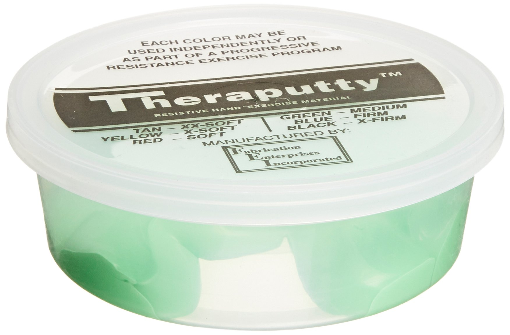 CanDo TheraPutty Standard Exercise Putty, Green: Medium, 50 lb