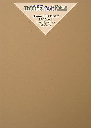 Amazoncom 100 Brown Kraft Fiber 80 Cover Paper Sheets 45 X