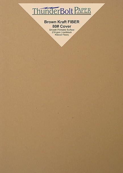 amazon com 100 brown kraft fiber 80 cover paper sheets 4 5 x