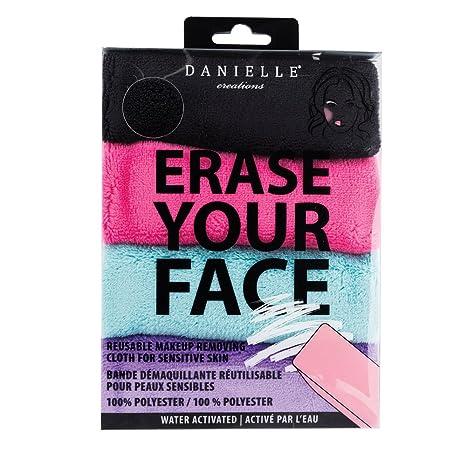 Danielle Creations Borrar Tu Cara Maquillaje Eliminar Trapos, color negro/morado/rosa/