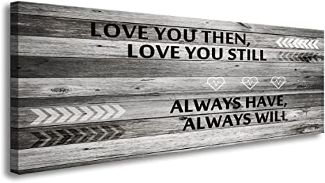 A71862 Canvas Wall Art Love You Still Large Wall Art Wood Frame Ready To Hang For Wall Decor Home Kitchen