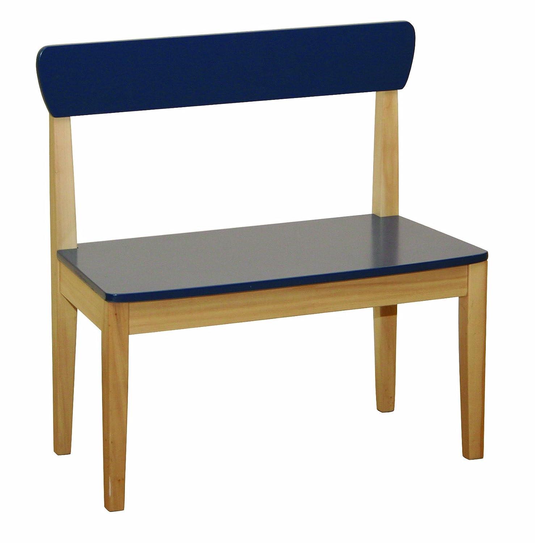 roba 50763 - Sitzbank, Massivholz, Medium Density Fibreboard lackiert, Sitzfläche und Rücken blau lackiert 59 x 56,5 x 29,5 cm, sitzhöhe 31 cm sitzhöhe 31 cm B000UYTA2A