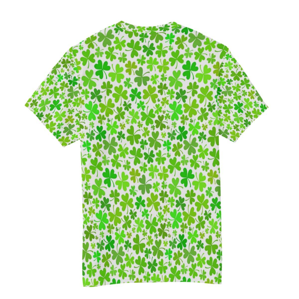 St Patricks Day Clover Products Mens T Shirts Graphic Funny Body Print Short T-Shirt Unisex Pullover Blouse