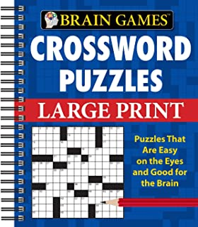 Amazon brain games crossword puzzles 9781605533735 editors brain games crossword puzzles large print brain games unnumbered ccuart Choice Image