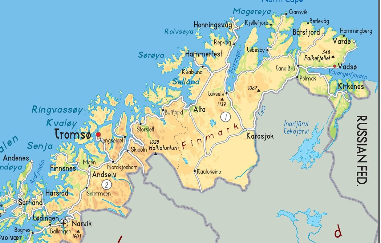 Cartina Geografica norvegia Politica
