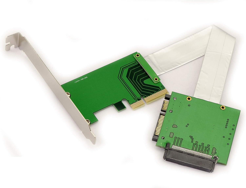 Kalea-Informatique–Convertidor adaptador U2(68pin SFF-8639) a PCIe 4X–Para Montar Un SSD U.2sobre un puerto PCIE 4X–Mantel salida Semi rígida 15cm