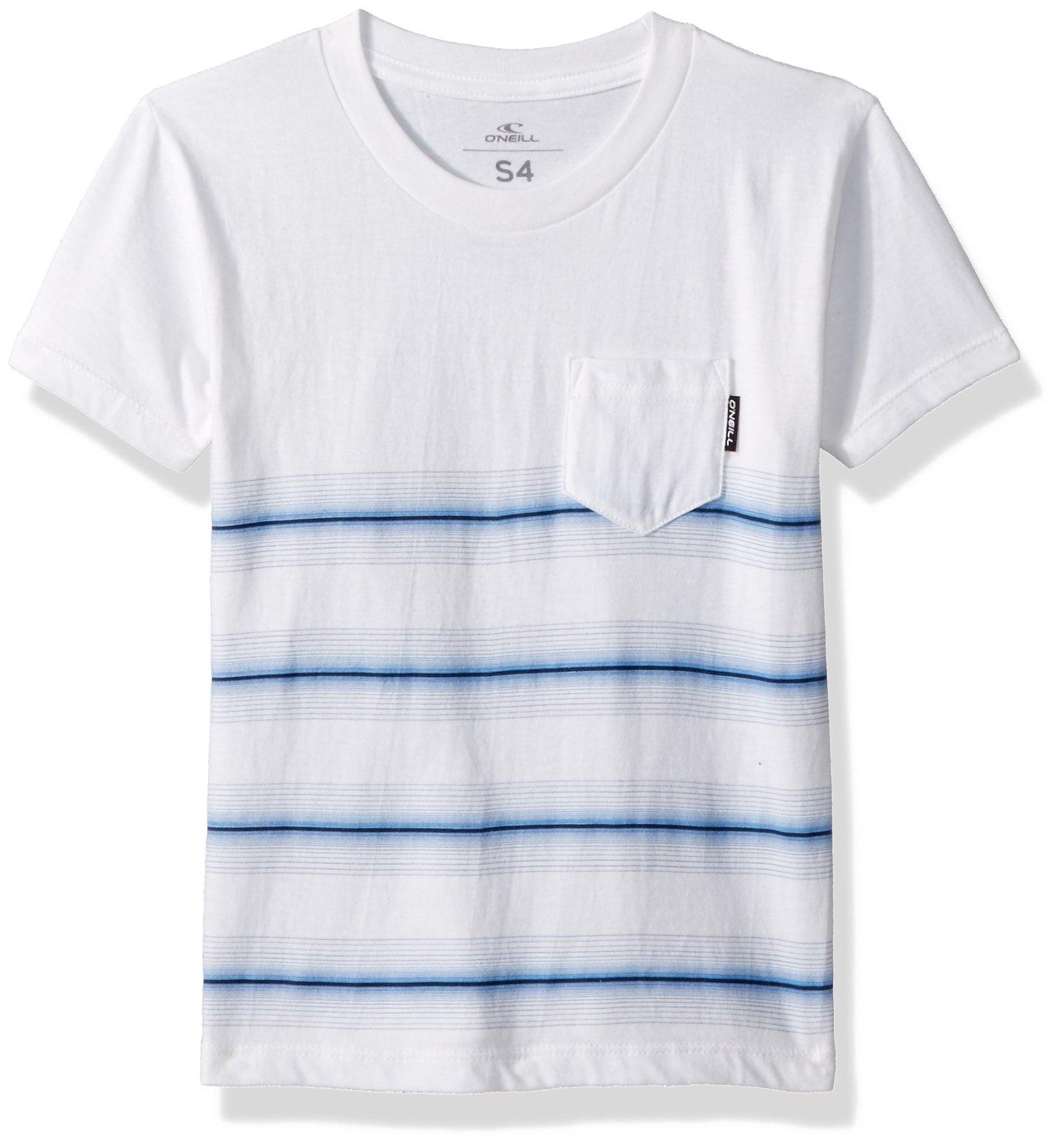 O'Neill Little Boys' Printed Stripe Short Sleeve Tee, Pho White, 2T