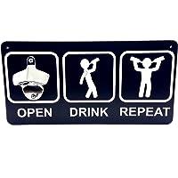 Abridor de Garrafas Magnético Warning Beer Zone Open Drink Repeat