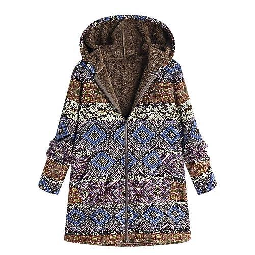 Zarupeng Abrigo Mujer Invierno,Abrigo Invierno Mujer Chaqueta Suéter Jersey Mujer Cardigan Mujer Tallas Grandes