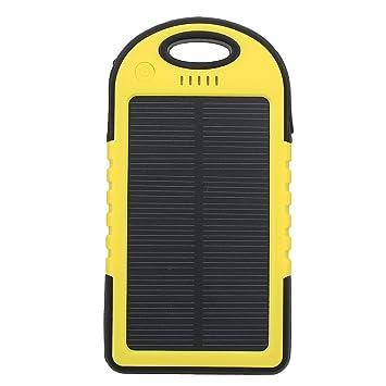 kingSo® Cargador Solar waterproof dustproof shockproof Power Bank de 5000mAh Batería externa Amarillo