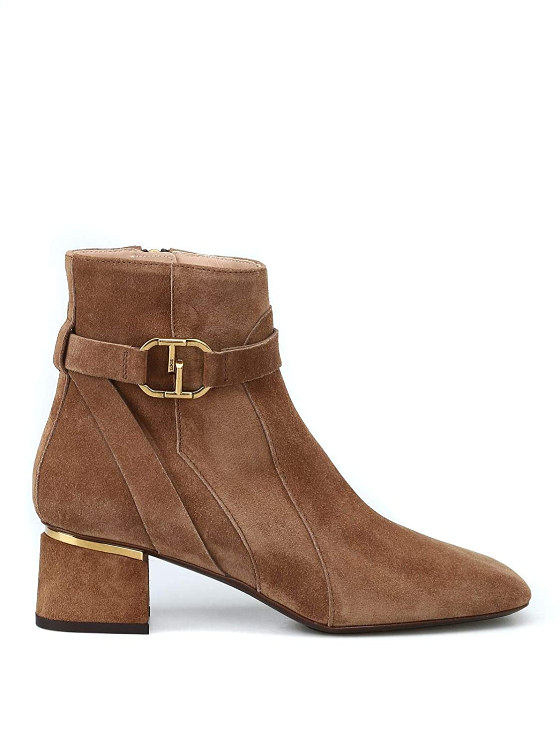 - Tod's Women's XXW10B0AK60BYES819 Brown Fabric Ankle Boots