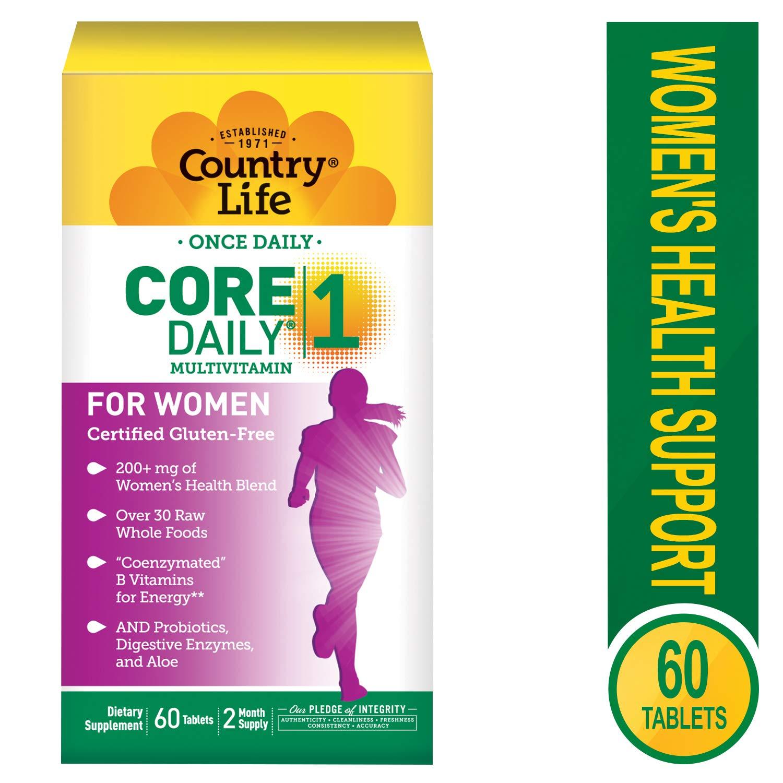 Amazon.com: País vida Core Daily 1 para mujer comprimidos ...