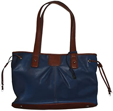 6d71afb3c801 Image Unavailable. Image not available for. Color  Women s Tignanello Purse  Handbag Leather Item Shopper Tote Indigo