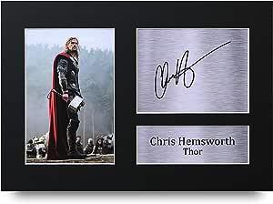 HWC Trading Chris Hemsworth A4 Sin Marco Regalo De Visualización De Fotos De Impresión De Imagen Impresa Autógrafo Firmado por Thor The Avengers Los Aficionados Al Cine