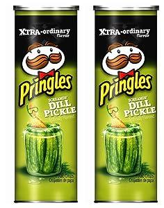 Pringles Screamin' Dill Pickle Potato Crisps, 5.5 oz, 2 Pack