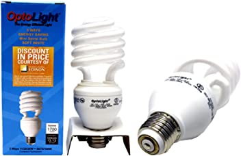 1 OPTOLIGHT COMPACT FLOURESCENT MINI SPIRAL BULB 26 WATTS 120V 60Hz 1700 LUMENS ;P#
