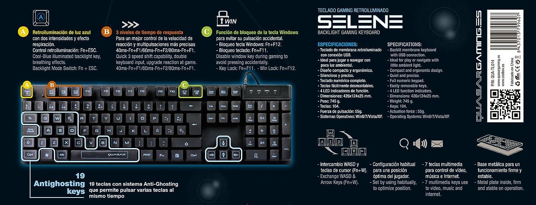 Coolbox - Teclado Gaming Quasar Selene, Retroiluminado: Amazon.es: Informática