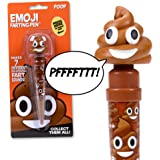 Emoji Poop Pen - Makes 5 Funny Fart Sounds - The Funniest Farting Friend You'll Ever Have - Cute Gift for Kids, Tweens & Teen Parties - His Gas Will Make Your Friends Laugh - Poop Emoji Pooping Pal