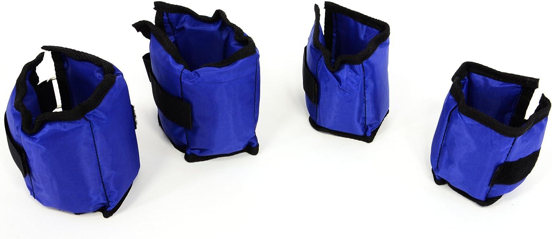 Nexos 2er 4er Set Gewichtsmanschetten Laufgewichte Hand und Fu/ßgelenkgewichte Gewichte f/ür Arm und Beintraining 500g 1000g Polyesterb/änder mit Klettverschluss blau