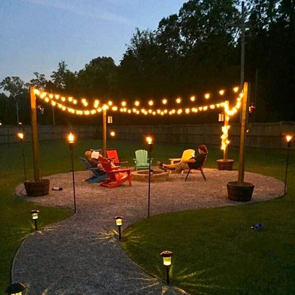 AFAITH 20 pies 30 LED Solar guirnalda de luces LED, resistente al ...