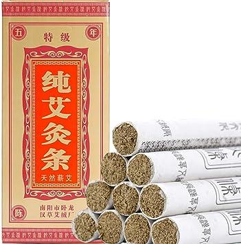 Moxa Sticks - Rodillos hechos a mano para artemisia, ajenjo natural, hierbas medicinales chinas (10 por caja): Amazon.es: Salud y cuidado personal