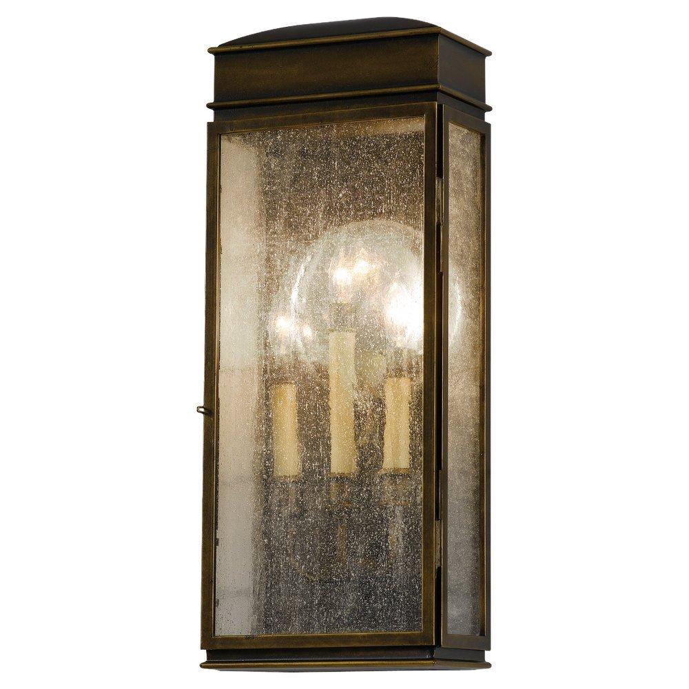 Feiss OL7402ASTB Whitaker 3- Light Wall Lantern in Astral Bronze