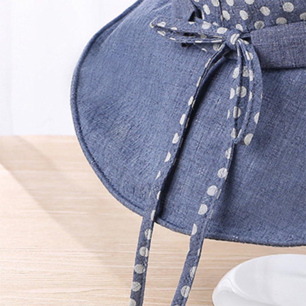 LAAT Plegable Verano Sombra Sombrero Corea t/écnicos Versi/ón Ondas Punto Fischer Sombrero de algod/ón para Anti UV Playa Tapa