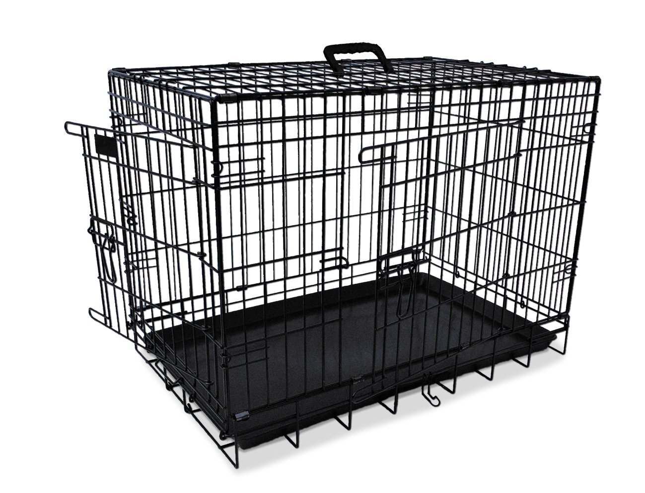 Nobby 62311 Pet Transport Cage Collapsible Black