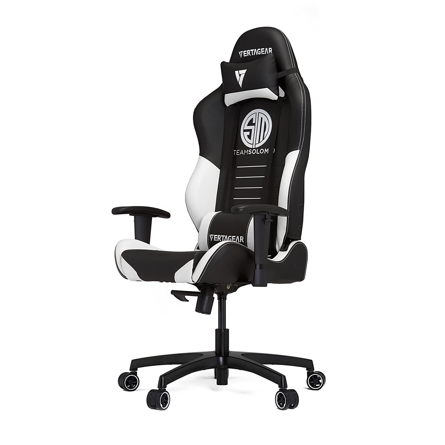Vertagear TSM Racing Series Gaming Chair,Large,Black White
