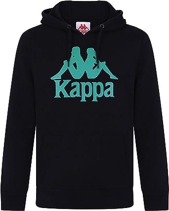 Kappa Homme Sweat à Capuche Zimim Slim Authentique, Noir